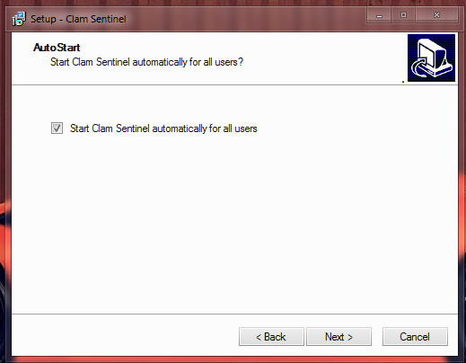 How to install Clam Sentinel for Windows