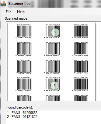 IBscanner free- portable barcode scanner