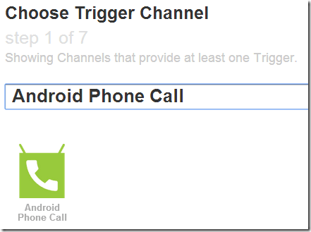 IFTTT Android Phone Call