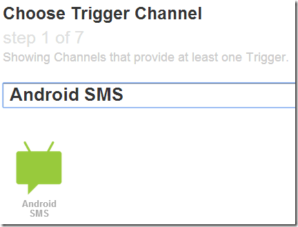 IFTTT Android SMS Channel