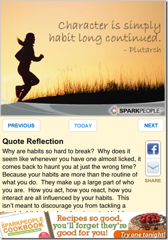Inspirational Quote of the Day by SparkPeople