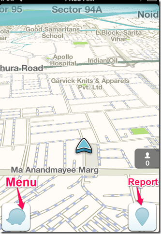 Waze App Homescreen