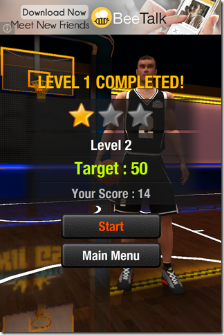 Scores On Completing Level