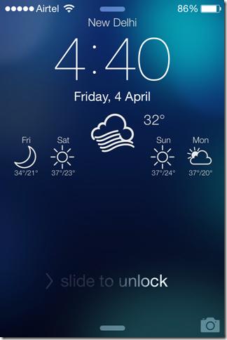 Weather Lock Screen