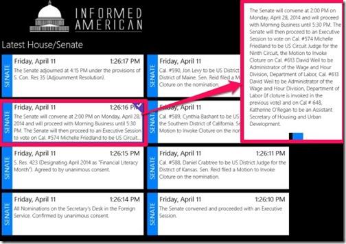 Informed Americans-Latest Senate