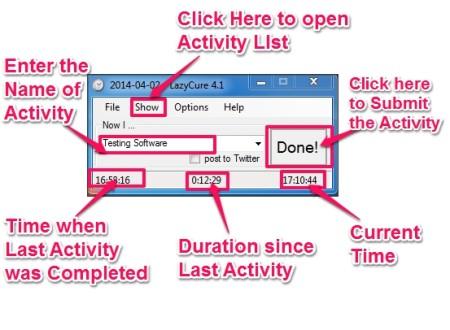 LazyCure add activity