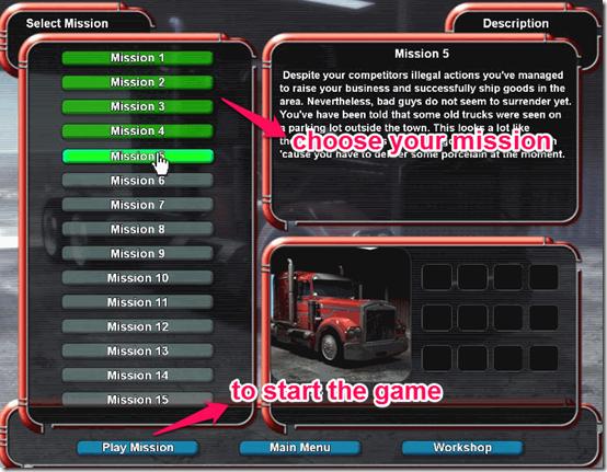 Mad Trucker Choose Mission