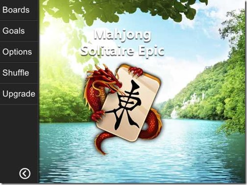 Mahjong Solitaire Epic-Different Options