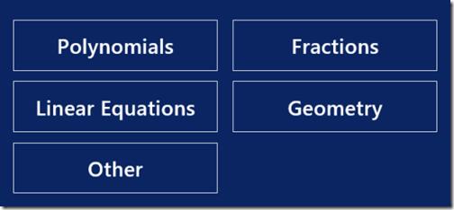 Math Solver- Categories