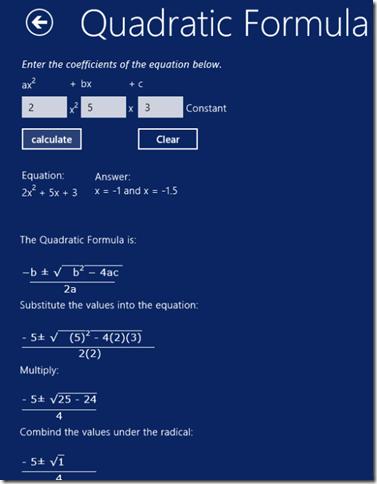 Math Solver- SOLUTION