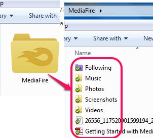 MediaFire Desktop folder