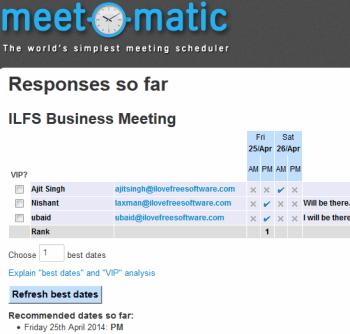 Meet-O-Matic- online meeting scheduler