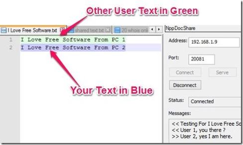 Npp Docshre - Colloborately Typing text