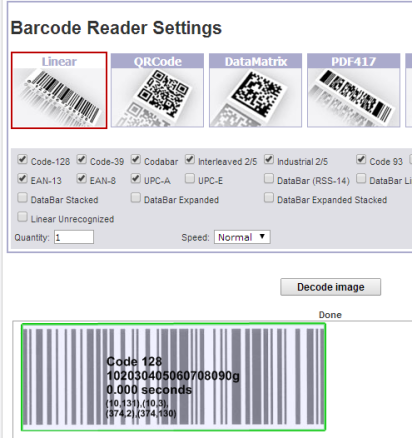 Barcode Scanner To Get Information Stored In Different Types