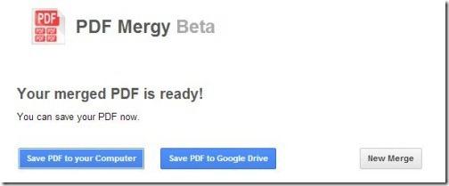 PDF Mergy- save and new merge