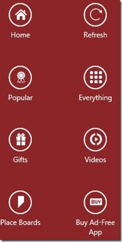 Pinterest Lite-different options