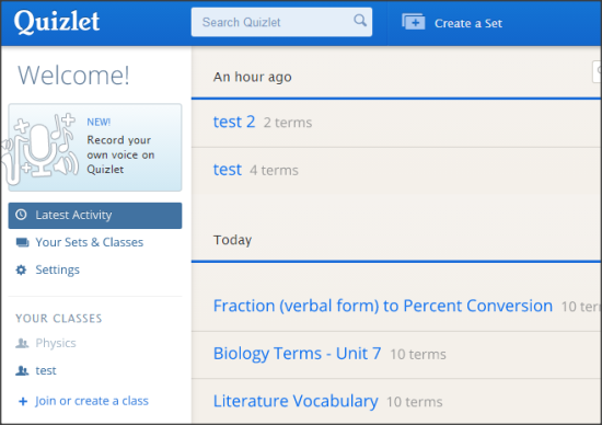 Learn With Quiz Online and Also Create Your Own Quiz: Quizlet