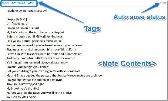 Sample Note taking