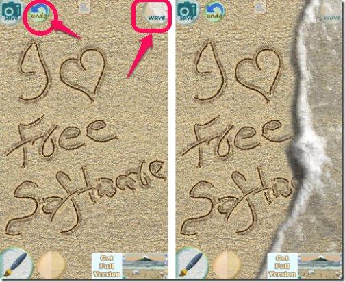 Sand Draw Free-waves