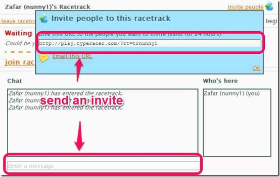 Send an invite
