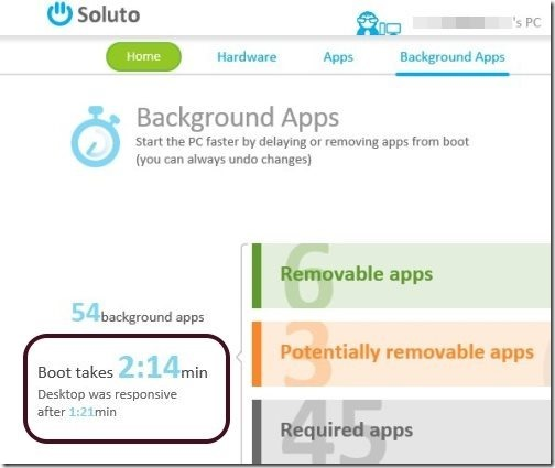 Soluto Boot Time Measure