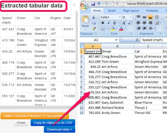 Tabula- extract tables from PDF in CSV