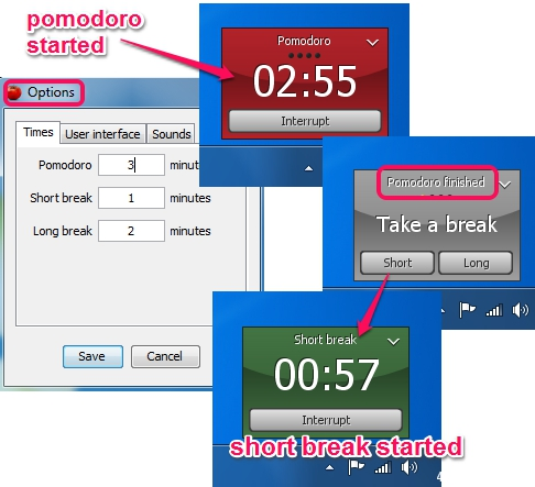 Tomighty- free desktop timer