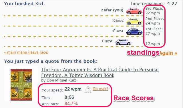TypeRacer Scoreboard