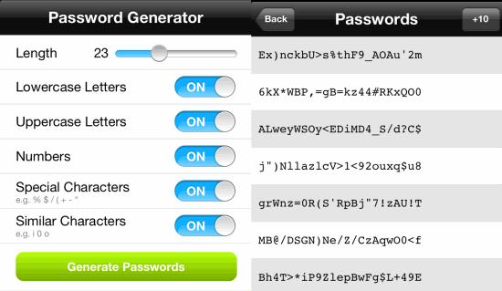 Password Generator Apps For iPhone