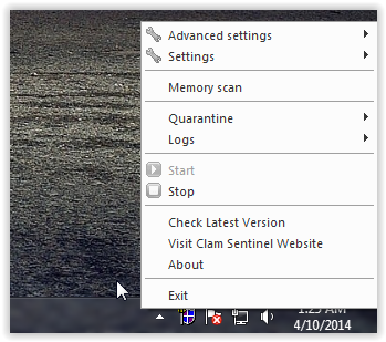Using Clam Sentinel for Windows for real time protection