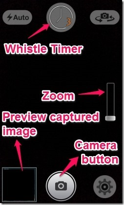 Whistle Camera- interface