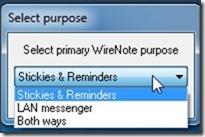 WireNote Select Purpose