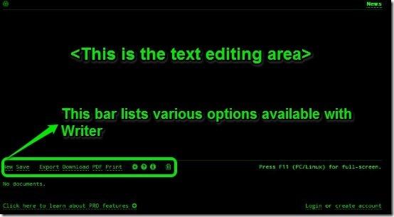 Writer - Homepage