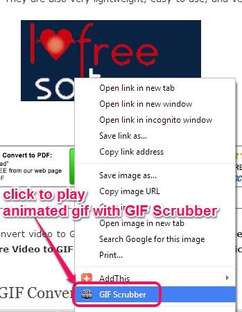 context menu option for GIF Scrubber
