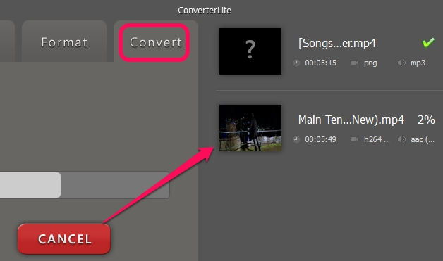 convert button