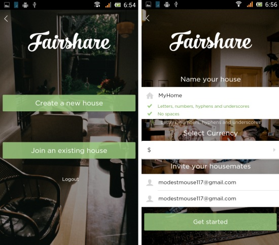 create house in fairshare for android
