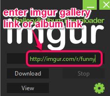 enter album link or gallery link to download