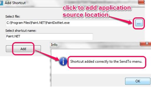 add application to Send to menu