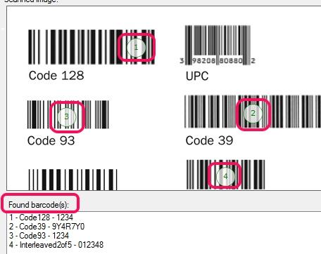 found barcodes