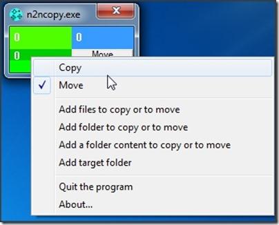 n2ncopy right-click