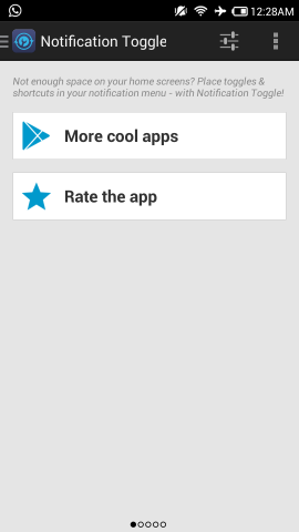 notification toggle for android welcome page