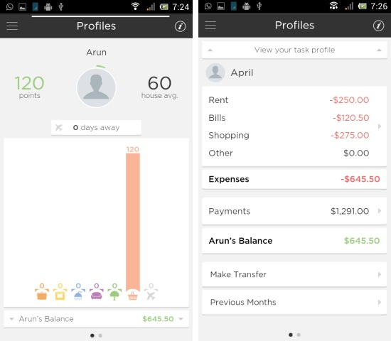 profile in faireshare for android