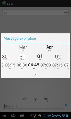 send self destructing messages android apps 5
