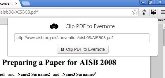 send to evernote apps for Google Chrome-2