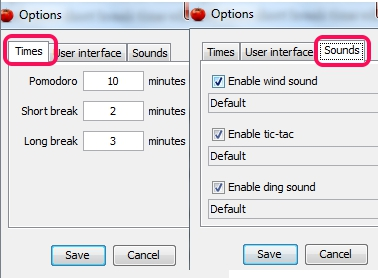 set times and enable sound