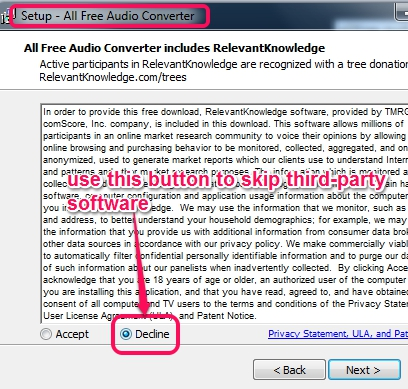 skip third-party software