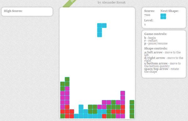 tetris extensions for google chrome