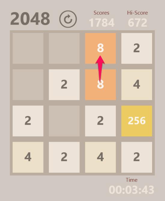 2048-Merge tiles