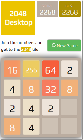 2048Desktop-Home Screen