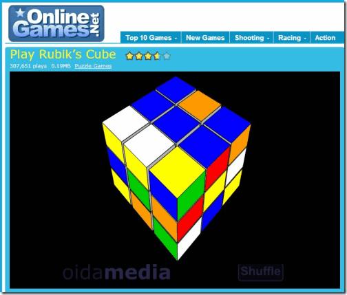 3D Rubik's Cube at OnlineGames.Net